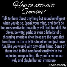 attractin a Gemini
